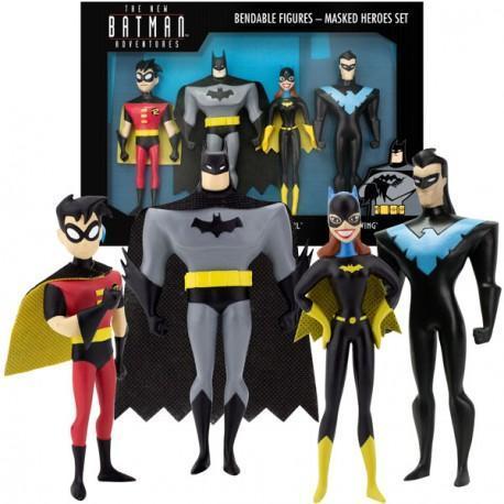 Batman bendable figures masked heroes set 4 pces