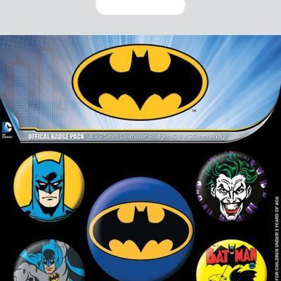 Batman characters pack de 5 badges