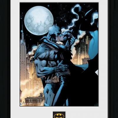 Batman collector print 30x40 batman moonlit kiss