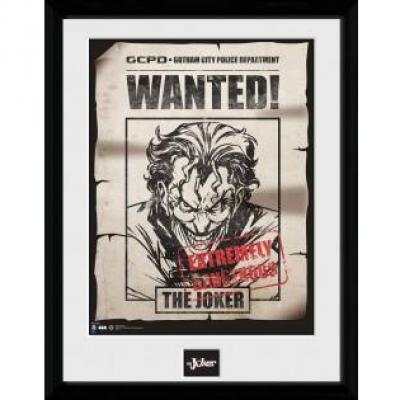 Batman comic collector print 30x40 joker wanted