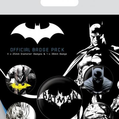 Batman dark pack de 5 badges