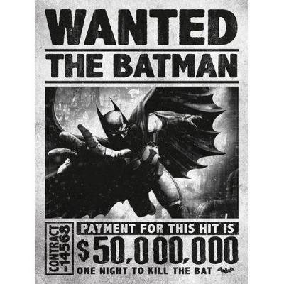 Batman poster 61x91 arkham origins wanted 1
