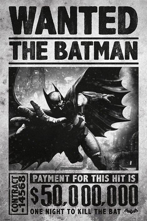 Batman poster 61x91 arkham origins wanted