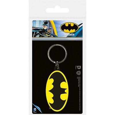 Batman symbol porte cles en caoutchouc dc comics
