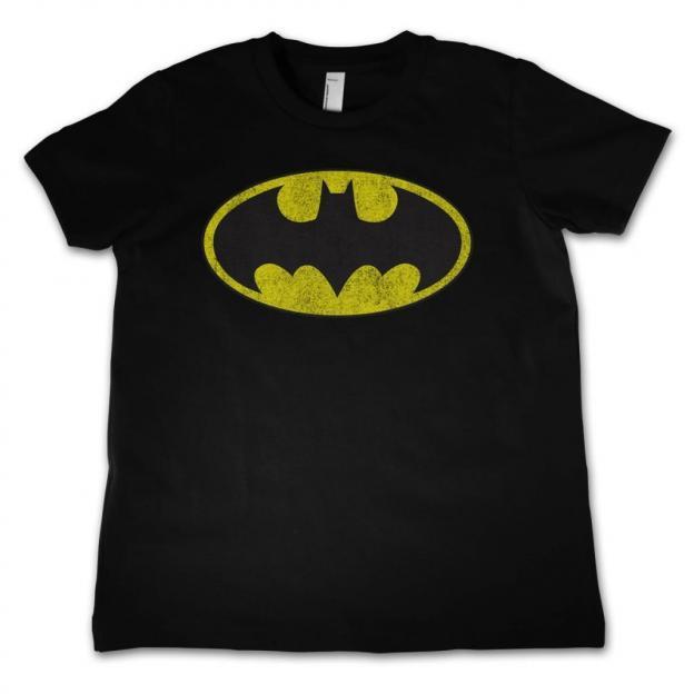 Batman t shirt kids distressed logo