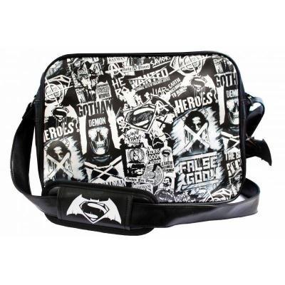 Batman vs superman messenger bag black and white