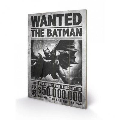 Batman wanted impression sur bois 40x59cm