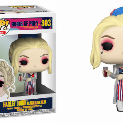 Birds of prey bobble head pop n 303 harley quinn black mask club
