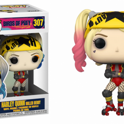 Birds of prey bobble head pop n 307 harley quinn roller derby