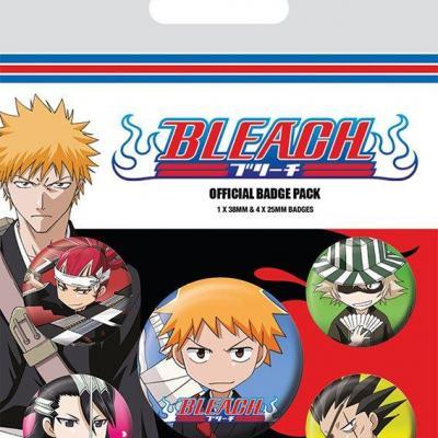 Bleach chibi characters pack de 5 badges
