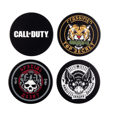 Call of duty cold war pack de 4 sous verres