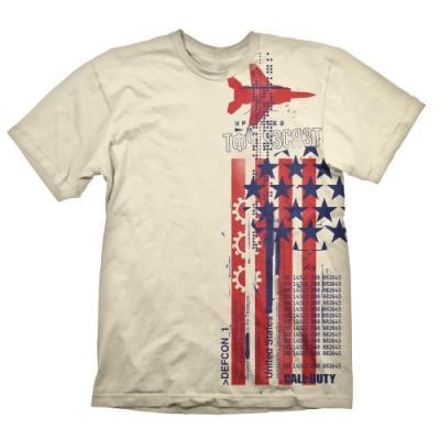 Call of duty cold war t shirt top secret creme