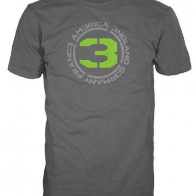 Call of duty mw3 t shirt charcoal countries 3