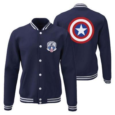 Captain america shield jacket teddy