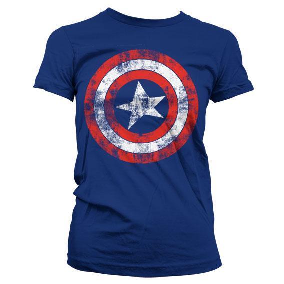 Captain america shield t shirt girl