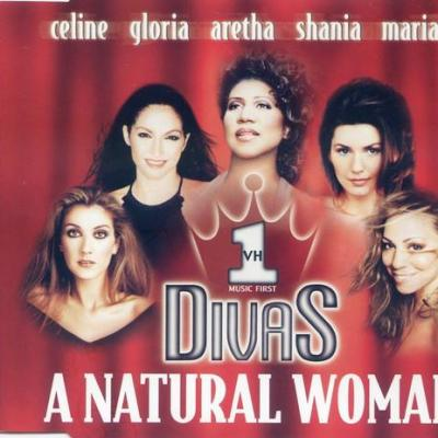 Celine dion whitney houston mariah carey divas a natural woman rare maxi cd promo