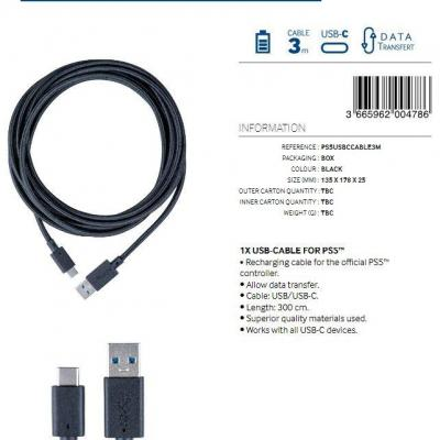 Charging and data transfer usb cable 3m bigben