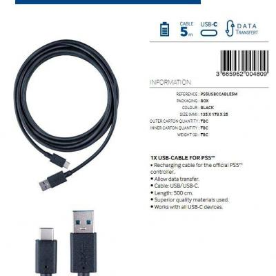 Charging and data transfer usb cable 5m bigben