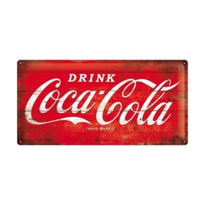 Coca cola 1960 logo plaque metal 25x50cm