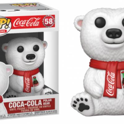 Coca cola bobble head pop n 58 polar bear