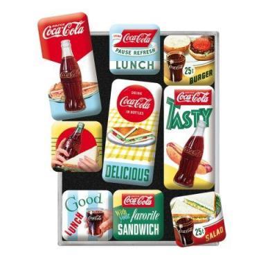 Coca cola delicious set de 9 magnets