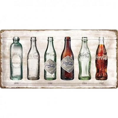 Coca cola timeline plaque metal 25x50cm