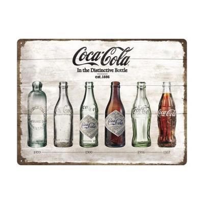 Coca cola timeline plaque metal 30x40cm
