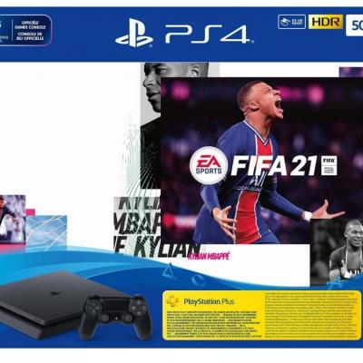 Console ps4 slim 500 gb black pack fifa 21
