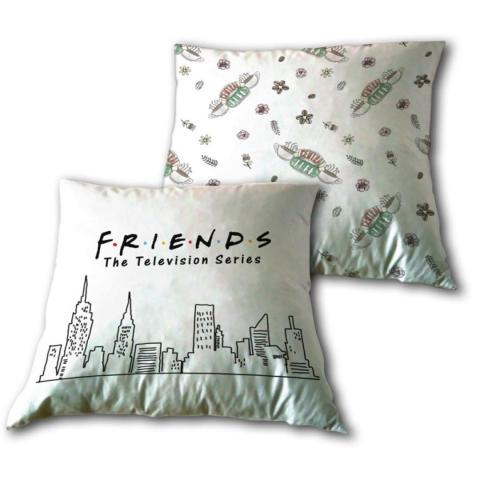 Coussin friends 35 x 35 cm polyester blanc