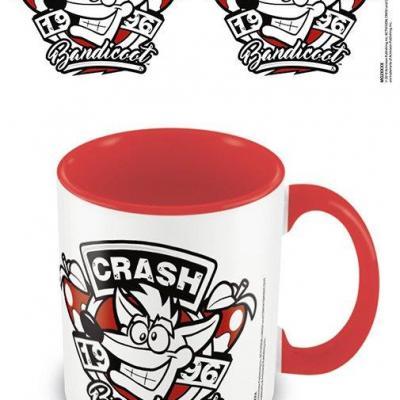 Crash bandicoot 1996 emblem mug interieur colore 315ml