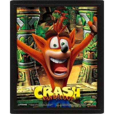Crash bandicoot 3d lenticular poster 26x20 mask power up