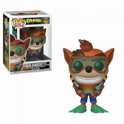 Crash bandicoot bobble head pop n 421 scuba crash