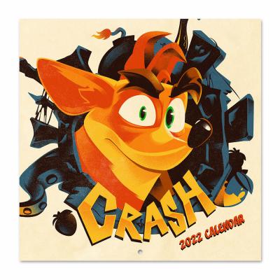 Crash bandicoot calendrier 2022 30x30cm