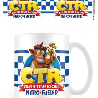 Crash bandicoot checkered flag mug 315ml