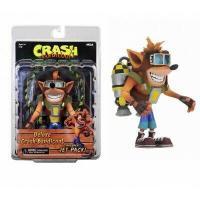 Crash bandicoot figurine deluxe crash avec son jetpack 18cm