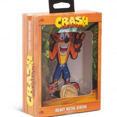 Crash bandicoot heavy metal statue crash 13cm