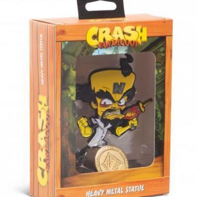 Crash bandicoot heavy metal statue dr neo 13cm