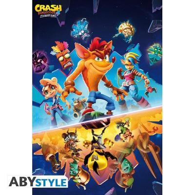 Crash bandicoot it s about time forest poster 91x61cm