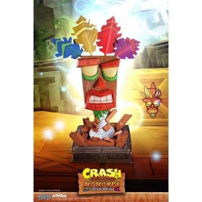 Crash bandicoot masque taille reelle aku aku 65cm