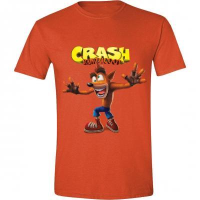 Crash bandicoot t shirt crazy crash face