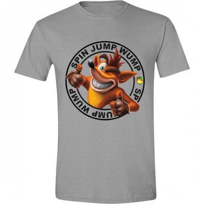 Crash bandicoot t shirt jump wump crash logo