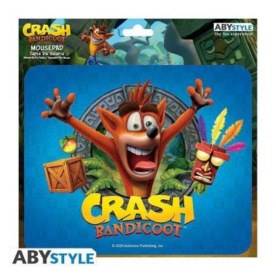 Crash bandicoot tapis de souris 23 5x19 5cm
