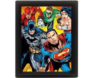 Dc comics 3d lenticular poster 26x20 heroes