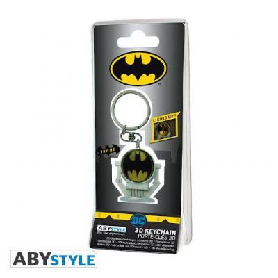 Dc comics bat signal porte cles 3d premium