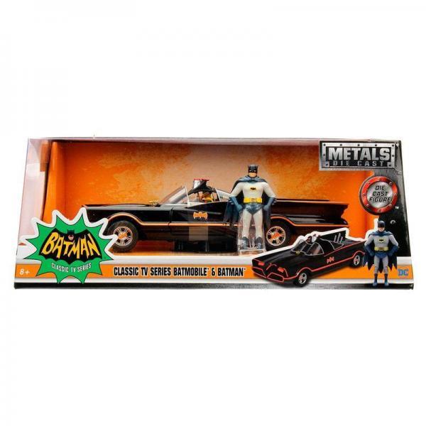Dc comics batman 1966 batmobile figure metal die cast 1 24eme
