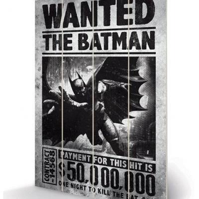Dc comics batman arkham origins wanted impression sur bois 20x29 5