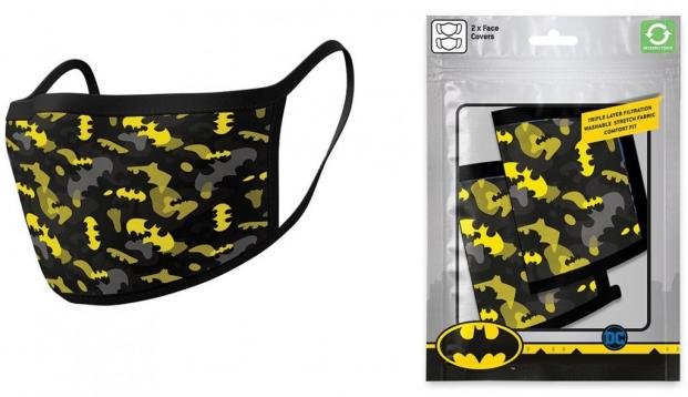 Dc comics batman camo yellow set de 2 masques visage 1