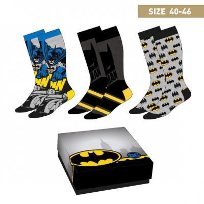 Dc comics batman pack de 3 paires de chaussettes p40 46