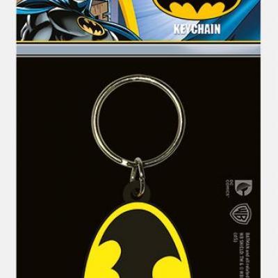 Dc comics batman symbol porte cles en caoutchouc