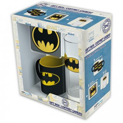 Dc comics coffret cadeau batman glass coaster mini mug